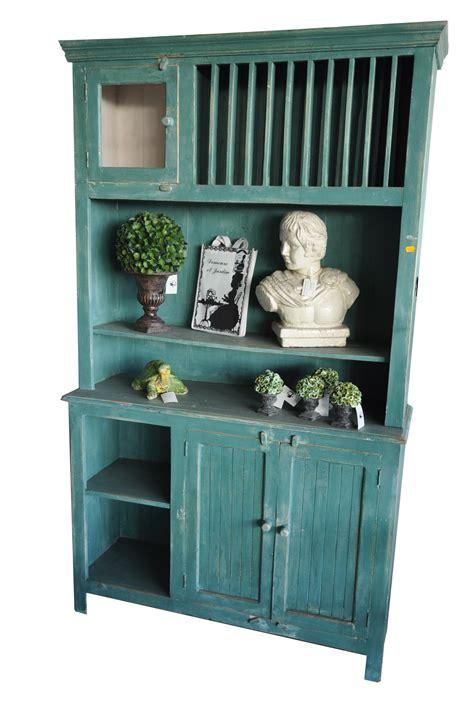 vaisselier cuisine vaisselier cuisine bleu vert en bois rustique demeure et jardin