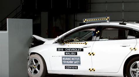 chevy malibu  good crash test rating gm authority