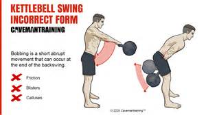 kettlebell swing bobbing form incorrect