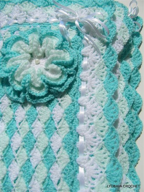 crocheted baby blankets crochet pattern baby blanket turquoise with by lyubavacrochet