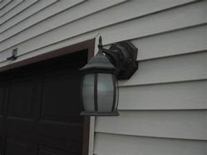 exterior light fixture is missing a vinyl mounting block With outdoor lighting fixture mounting block