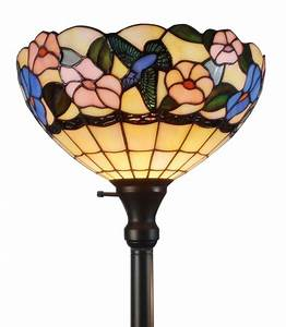 amora lighting tiffany style am023fl14 hummingbirds floral With tiffany hummingbird floor lamp
