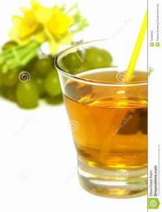 Glass Of Juice And Fresh Grapes On White Stock Photo ...