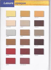 nuancier de couleurs de lasure opaque de lasure et de With lasure couleur bois exterieur