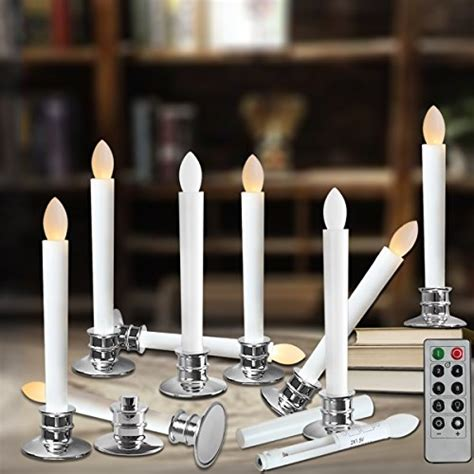 flameless taper candles led christmas timer candles