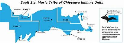 Area Service Tribe County Chippewa Sault Map