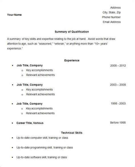 Free Simple Resume Template by Best 25 Simple Resume Template Ideas On