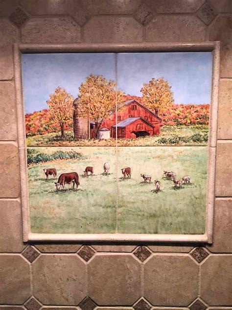 Farm Animal Wallpaper For Kitchen - kitchen tile farm murals s country kitchen barnyard