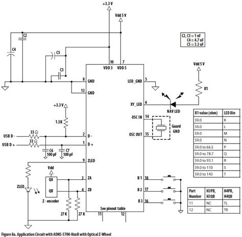 Wiring Diagram For Computer Mouse by Optical Mouse Circuit Diagram