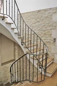 Garde Corps Escalier Fer Forgé : rampes d 39 escalier et garde corps en fer forg gironde ferronnerie h rault ~ Nature-et-papiers.com Idées de Décoration