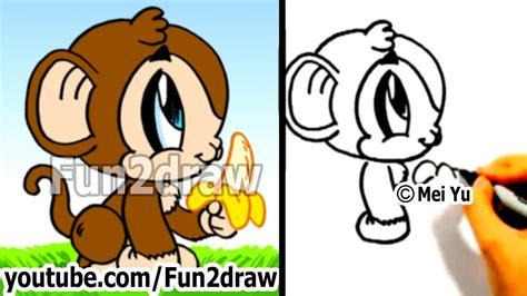 draw  cartoon monkey drawing tutorials draw