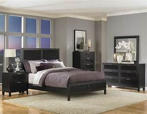 Decorate, Your, Bedroom, With, The, Stylish, Black, Lacquer, Bedroom, Furniture, Sets