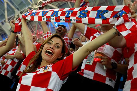England Croatia Meet The Sexy Fans Doing Battle With