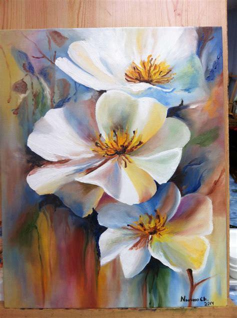 pintar rosas blancas al oleo planos cuadros flores pintados con decoracion imagenes acrilicos