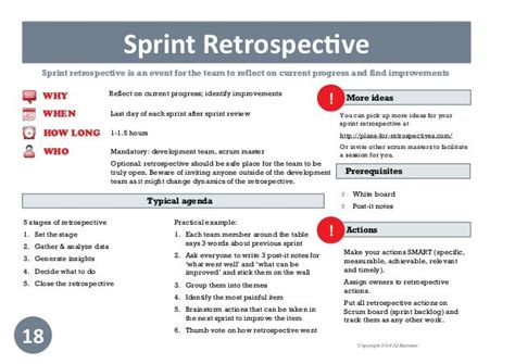 sprint retrospective template 846 best scrum agile pm images on confused continuous deployment and product