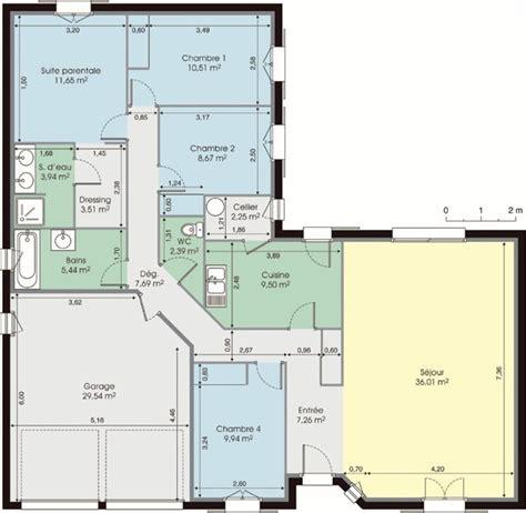 plan maison 120m2 3 chambres plan maison moderne 120m2 projet maison