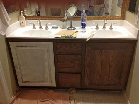 how to refinish bathroom vanity cabinets vintage marketplace white redirection bathroom redo 25477