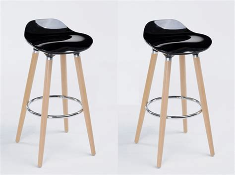 tabouret de bar atlas lot de 2 tabourets de bar firel noir