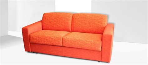 Divano Arancione Stoffa Moderno