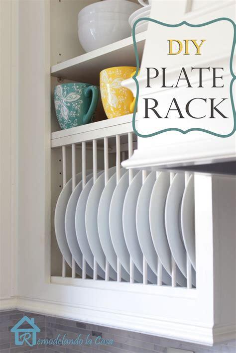 diy  cabinet plate rack cocina diy casas  cocina renovada