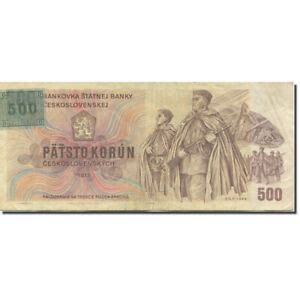 [#607299] Banknote, Czech Republic, 500 Korun, 1973 ...