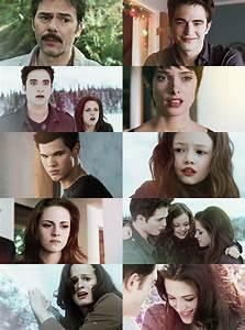 Charlie, Edward, Edward Bella, Alice, Jacob, Renesmee ...