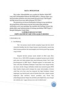 contoh laporan pertanggungjawaban kegiatan kerja bakti laporan