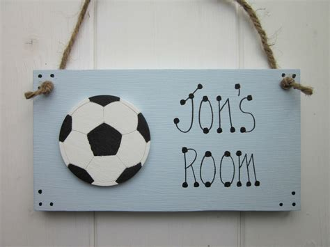 football personalised  boys girls bedroom door sign