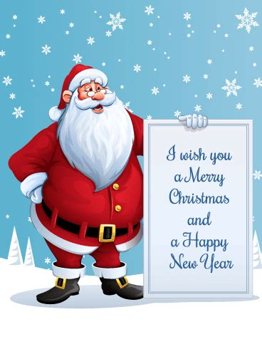 i wish you a merry christmas santa christmas card birthday greeting cards by davia
