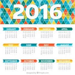 calendar design colorful calendar with geometric design vector premium