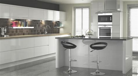 b q kitchen tiles ideas appleby white gloss kitchen contemporary kitchen