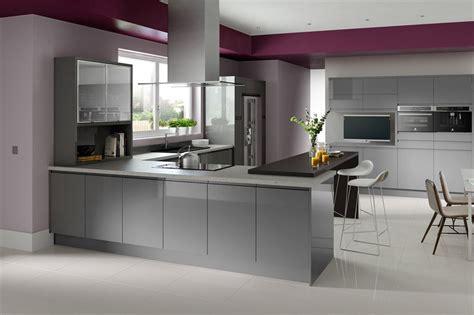 grey contemporary kitchen in line gloss grey sheraton modern inspiration 1486