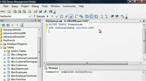 sql server show tables add update delete a column sql training by sqlsteps