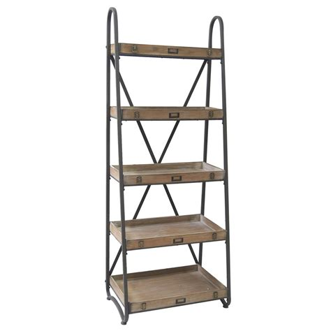 Etagere Wood by Voyager Metal And Wood Tiered Etagere By Crestview