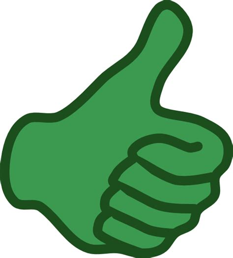 Thumbs Clipart Green Thumbs Up Clip At Clker Vector Clip