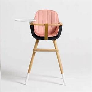 Chaise Haute Bébé Design : chaise haute pour b b micuna ovo noire avec coussin rose ~ Teatrodelosmanantiales.com Idées de Décoration