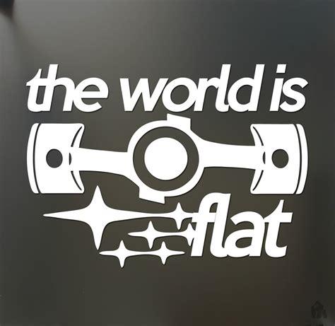 subaru wrx decals the world is flat sticker v2 subaru wrx sti brz scion