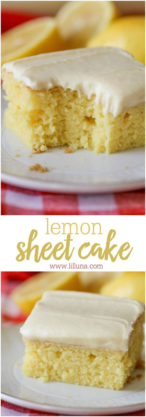 easy lemon cake super moist lemon sheet cake lil luna