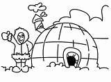 Igloo Coloring Pages Eskimo Alaska Eskimos Map Getcolorings Printable Edmonton sketch template