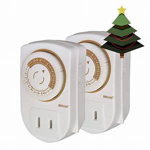 Christmas Light Timer 50006wd 24 Hour Mechanical Outlet