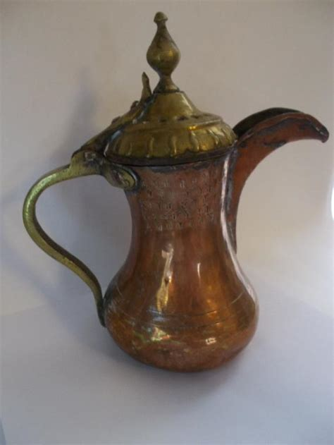 antique middle eastern copper teapot  maisonettedemadness