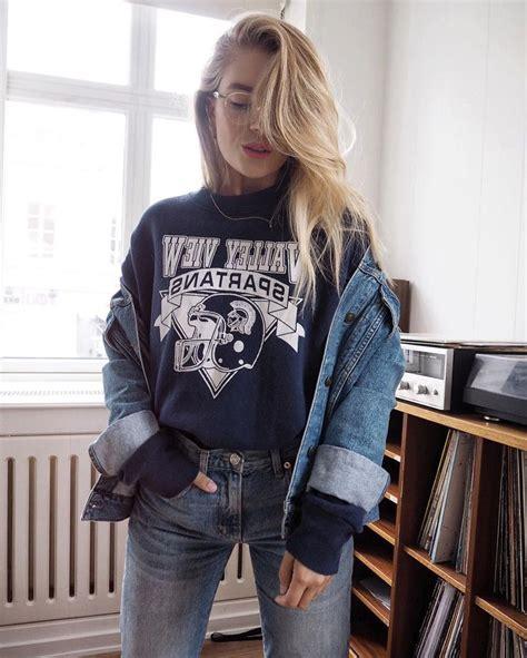 25+ best Double denim ideas on Pinterest | Womenu0026#39;s denim outfits Double denim looks and Double ...