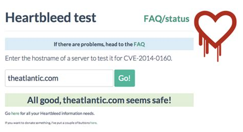 safety how to check if how to check if a site is safe from heartbleed the atlantic