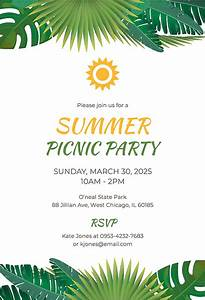 Ms Office Templates Free Free Summer Picnic Party Invitation Template Download 344