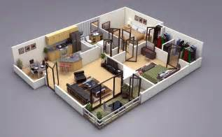 Two Floor Bed 25 Two Bedroom House Apartment Floor Plans