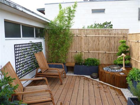 garten moy bambus balkon sichtschutz ndash gestaltung ideen fuer feng shui stil