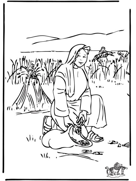Kleurplaat Ruth by Boaz And Ruth Coloring Pages Coloring Home