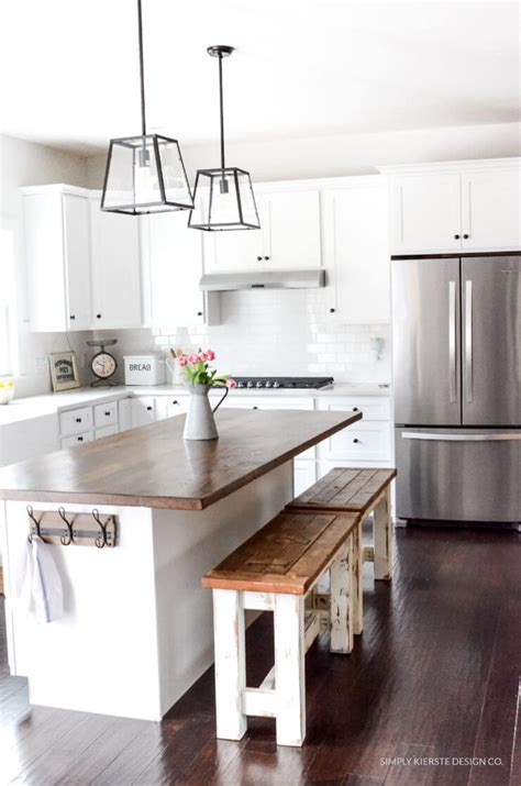 farmhouse kitchen island ideas 35 best diy farmhouse kitchen decor projects and ideas 7154
