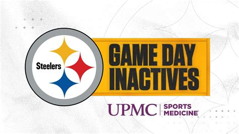 steelers inactives  week   jaguars