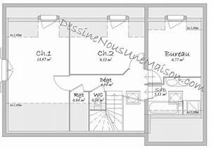 plans de maisons individuelles avec etage ou combles With plan maison combles amenages